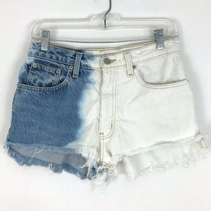 Vtg Ralph Lauren high rise cut off denim shorts
